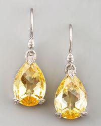 Judith Ripka - Metallic Canary Crystal Teardrop Earrings - Lyst