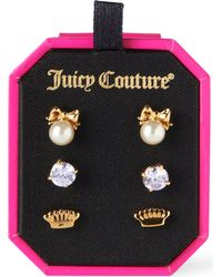 Juicy Couture - Metallic Charmy Stud Set - Lyst