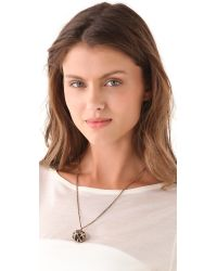 Low Luv by Erin Wasson - Metallic Cage Sphere Lava Ball Necklace - Lyst