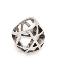 Low Luv by Erin Wasson | Metallic Domed Cage Ring | Lyst