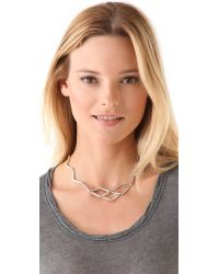 Low Luv by Erin Wasson - Metallic Zigzag Necklace - Lyst