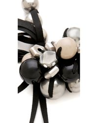 Marc By Marc Jacobs - White Bolts Galore Bubble Necklace - Lyst