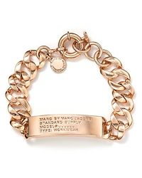 Marc By Marc Jacobs - Pink Standard Supply Id Bracelet - Lyst
