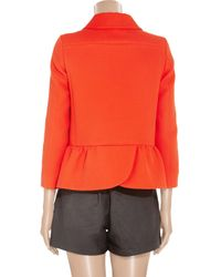 Miu Miu | Orange Cotton-twill Swing Jacket | Lyst