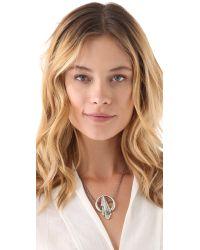 Pamela Love - Metallic Keyhole Necklace - Lyst
