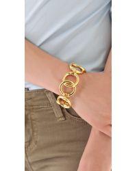 Tory Burch - Metallic Rings Bracelet - Lyst