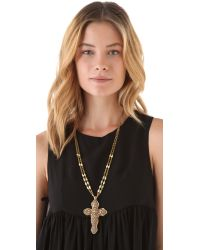 Vanessa Mooney - Metallic Destiny Cross Necklace - Lyst