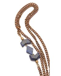 Vanessa Mooney - Metallic Mesa Double Wrap Necklace - Lyst