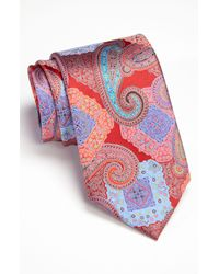Ermenegildo Zegna | Red Quindici Print Silk Tie for Men | Lyst