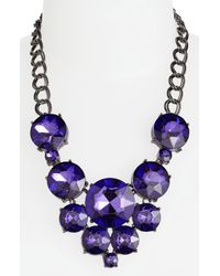 Tasha | Purple Bib Necklace | Lyst