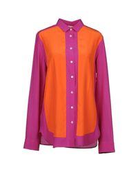 Céline | Orange Long Sleeve Shirts | Lyst