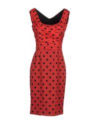Dolce & Gabbana | Red Short Dress | Lyst