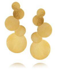 Herve Van Der Straeten   Goldplated Disc Clip Earrings   Lyst