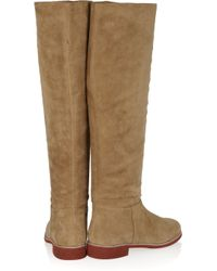 Kors by Michael Kors - Brown Nanette Suede Knee Boots - Lyst