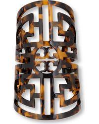 Tory Burch - Brown Labyrinth Cuff - Lyst