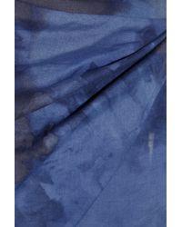 Vivienne Westwood Red Label - Blue Asymmetric Printed Cotton-poplin Dress - Lyst