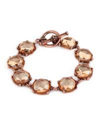 BaubleBar - Metallic Bronze Crystal Bracelet - Lyst