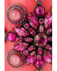 Emilio Pucci - Pink Plexiglass and Crystal Cuff - Lyst