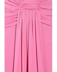 Issa | Pink Plunge-Front Silk-Jersey Gown | Lyst