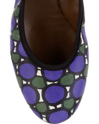 Marni - Purple Printed Leather Ballet Flats - Lyst