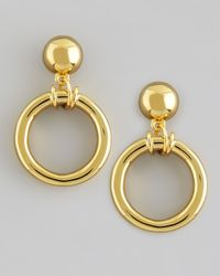 Tory Burch - Metallic Doorknocker Earrings Golden - Lyst