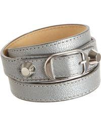 Balenciaga | Silver Arena Classic Double Tour Bracelet | Lyst