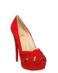 Christian Louboutin | Red 150mm Aborina Suede Open Toe Pumps | Lyst