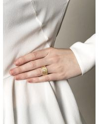 Lara Melchior - Metallic Bague Vi Diamond and Gold Ring - Lyst