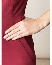 Sia Taylor | Metallic Random Dots Yellow Gold Bracelet | Lyst