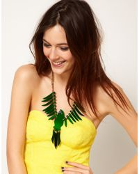 Tatty Devine - Small Parakeet Green Necklace - Lyst