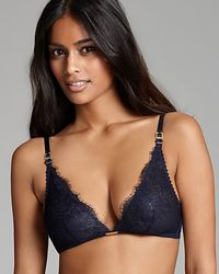 Ash | Blue Calvin Klein Underwear Bralette Eyelash Chantilly Lace Triangle | Lyst