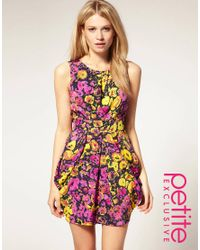 ASOS Collection | Multicolor Asos Petite Exclusive Tulip Dress in Bright Floral Print | Lyst