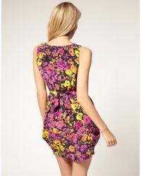 ASOS Collection | Multicolor Asos Petite Exclusive Tulip Dress in Bright Floral Print | Lyst