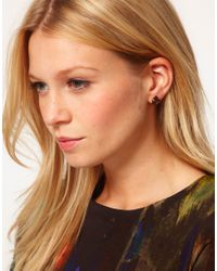 Ted Baker - Metallic Stone Stud Earrings - Lyst