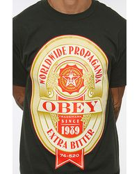 Obey | Green The Extra Bitter Basic Tee  for Men | Lyst