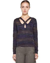 Theyskens' Theory | Gray Yenoir Keno Sweater in Purple | Lyst