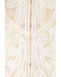 Alexander McQueen | White Crochet-embroidered Silk-organza Jacket | Lyst