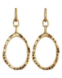 Devon Page Mccleary - Metallic Diamond Oval Ndoro Earrings - Lyst