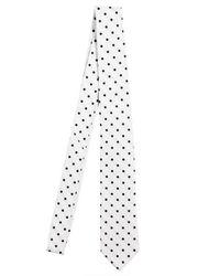 Dolce & Gabbana | White 5cm Polkadot Silk Twill Tie for Men | Lyst