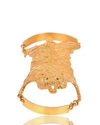 Dominique Lucas - Metallic Tiger Skin Gold Plated Cuff Bracelet - Lyst