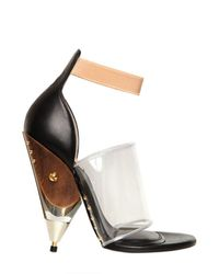 Givenchy - Brown 120mm Vinyl and Calfskin Sandals - Lyst