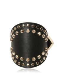 Givenchy | Metallic Studded Leather Cuff Bracelet | Lyst