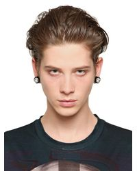 Givenchy | Black Svarowsi Crystals Magnetic Earrings for Men | Lyst