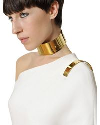 Givenchy - White Stretch Viscose Cady Long Dress - Lyst