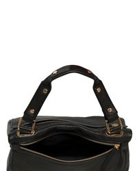 Golden Lane - Black Medium Perforated Leather Duo Satchel - Lyst