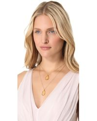Heather Hawkins - Metallic Layer Pendant Necklace - Lyst