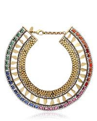 Iosselliani - Multicolor Spikes and Chain Necklace - Lyst