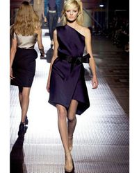 Lanvin - Purple Techno Duchesse Dress - Lyst