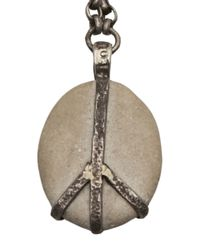 Lou Zeldis | Metallic Peace Pebble Necklace | Lyst