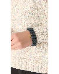 Marc By Marc Jacobs - Black Lizard Embossed Rubber Katie Bracelet - Lyst